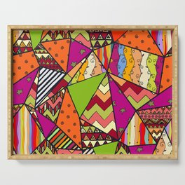 African Style No14, Tribal dance Serving Tray