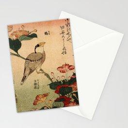 Hokusai,Hawfinch and mirabilis - manga, japan,hokusai,japanese,北斎,ミュージシャン Stationery Cards
