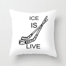 Eis Hockey Ice is Live Ausrüstung Throw Pillow