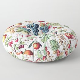 Adolphe Millot - Fruits pour tous - French vintage poster Floor Pillow