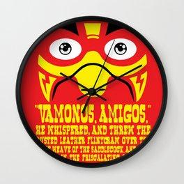 Vamonos Amigos Wall Clock