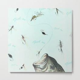 fish on Metal Print