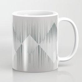 Line art, trippy in gray green metal color Coffee Mug
