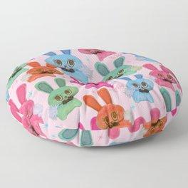 Cute Fluffy Bunnies Floor Pillow