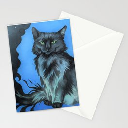 The Shadow Cat in Blue Stationery Cards