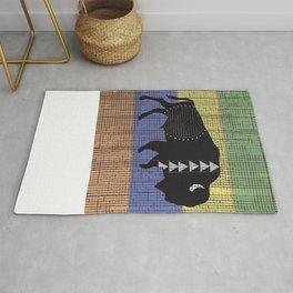 Charcoal Buffalo Rug