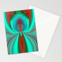 Green V Rust 2 Stationery Cards