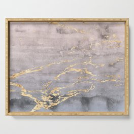 Watercolor Gradient Gold Foil IV Serving Tray