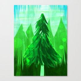 Tall Greens Canvas Print