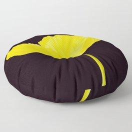 Yellow Poppy Black Background #decor #society6 #buyart Floor Pillow