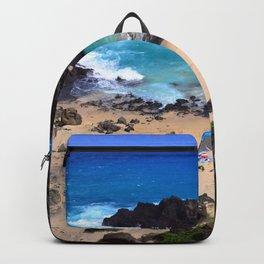 "Forbidden, ""NO TRESPASSING"" Beach in Oahu, Hawaii Backpack"