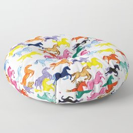 Rainbow Ponies Floor Pillow