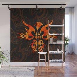 Fire Phoenix Bird Wall Mural