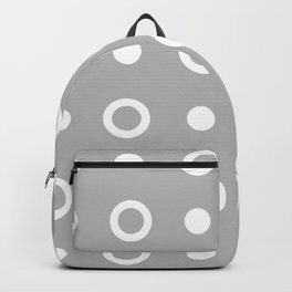 Polka Dot Pattern 243 Grey Backpack