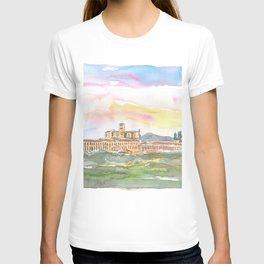 Assisi Skyline Italian Town at Sunset T-shirt