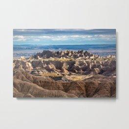 Castle in the Badlands - Pinnacles in Badlands National Park South Dakota Metal Print