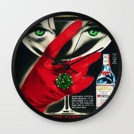 1962 Jose Cuervo Tequila 'Green Motif' Advertisement Poster Wall Clock