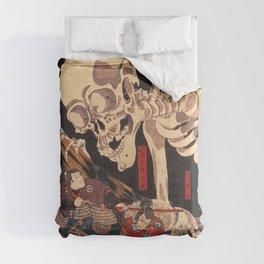 Takiyasha the Witch and the Skeleton Spectre, by Utagawa Kuniyoshi Comforters