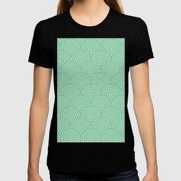 Geometric Scales Pattern - Greens #582 T-shirt