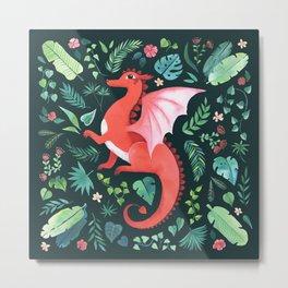 Tropical Dragon Metal Print