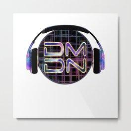 Dark Matter Digital Network Metal Print
