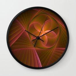 Energy, Fractal Art Pattern Wall Clock