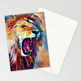 Lion 5 Stationery Cards