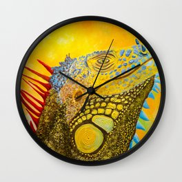 Basking in the Creamsicle Sunshine Wall Clock