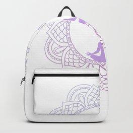 Relaxing Yoga Zen Calligraphy Buddhist Design Circle Enso Raglan Baseball Tee Backpack