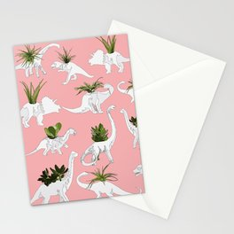 Dinosaurs & Succulents Stationery Cards
