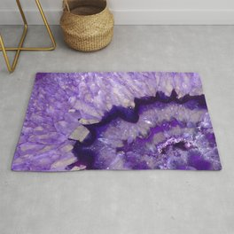 Purple Crystal Rug