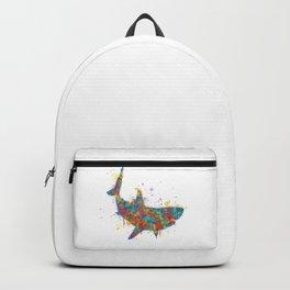 Splatter Paint Great White Shark Backpack