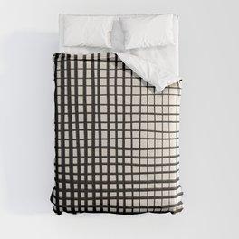 Horizontal & Vertical Lines Comforters