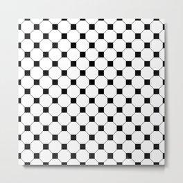 Black Octagon Seamless Pattern  Metal Print