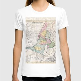 Old 1750 Historic State of Palestine Map T-shirt