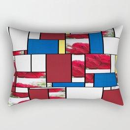 Red Rose Edges Art Rectangles 4 Rectangular Pillow