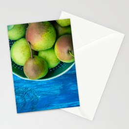 Pears on a Blue Table Stationery Cards
