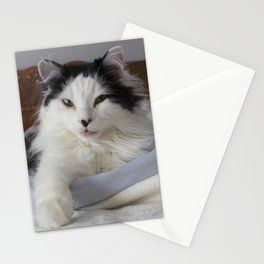 Blep in Bed Stationery Cards