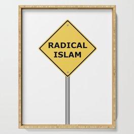 Radical Islam Warning Sign Serving Tray