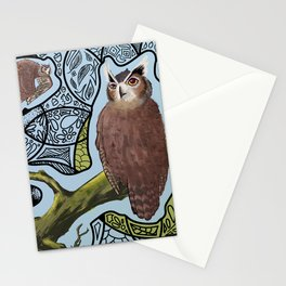 Great Horn Owl Stationery Cards