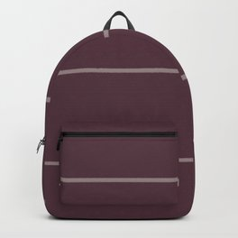 Deep Purple Pink-Purple Sponge Thin Stripe Pattern 2021 Color of the Year Epoch Spiced Mulberry Backpack