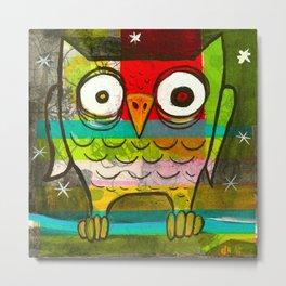 Owl Night Metal Print