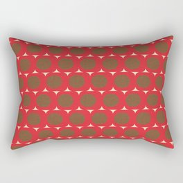 Dots and Triangles Red  #midcenturymodern Rectangular Pillow