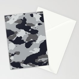 Grey Camo Stationery Cards