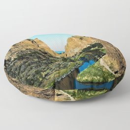 Rocks + River // Hiking Mountains Colorado Scenic View Landscape Photography Forest Backpacking Vibe Floor Pillow