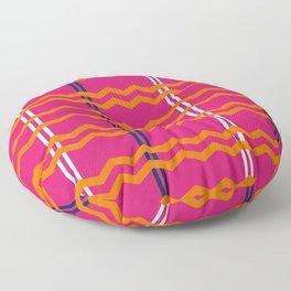 Pink and Orange Chevron Floor Pillow