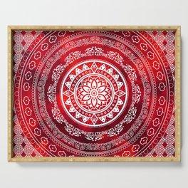 Mandala Scarlet Destiny Spiritual Zen Bohemian Hippie Yoga Mantra Meditation Serving Tray