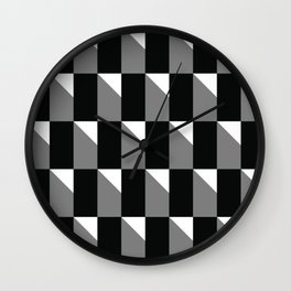 Geometric Color Shapes 6 Wall Clock