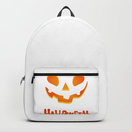 Hallowen Spooky Pumpkin T Shirt Gift for Hallows eve Backpack
