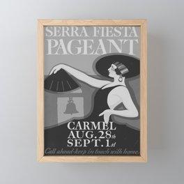 cartello Siera Festa Pageant Framed Mini Art Print